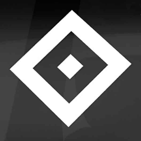 hsv heckscheibenaufkleber raute  fussballfanshop24